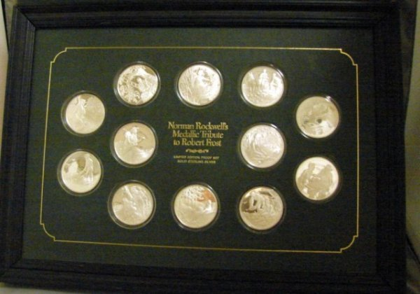 7: Boxed set of 12 one ounce sterling silver  medallion