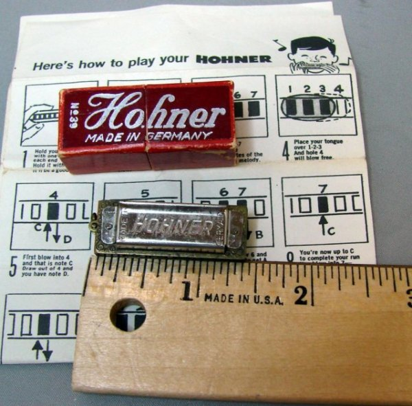 8: Miniature Horner Harmonica made in Germany with  ori