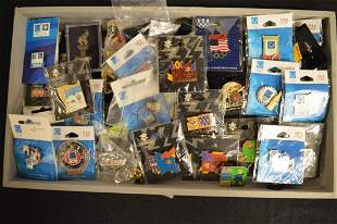 Large Collection of Olympic Collector Pins Plus