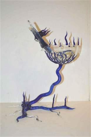 Art Glass Sculpture by Hans Godo Frabel
