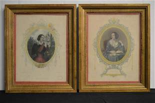 Pair of Framed  Antique Engravings