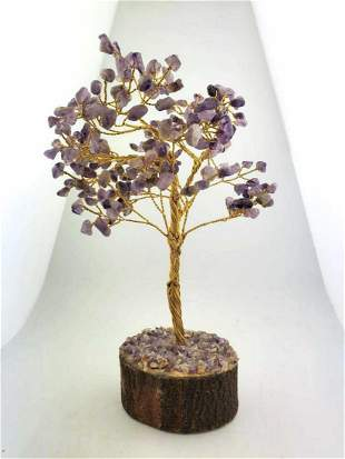 Decorative Amethyst tree statue