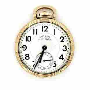 Gold Filled Hamilton Railway Special Pocket Watch