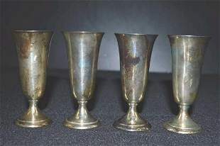 Alvin Sterling Cordial Stems Set of 4 #247