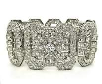 Vintage platinum diamond bracelet