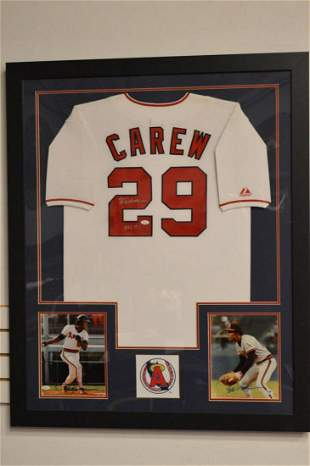 Rod Carew Autographed Majestic Angles Jersey