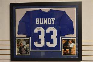 Al Bundy Polk High Blue Custom Football Jersey