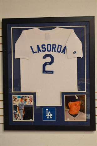 Tommy Lasorda Autographed Majestic Dodgers Jersey