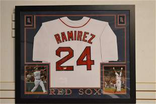 Manny Ramirez Autographed Red Sox Jersey JSA Cert