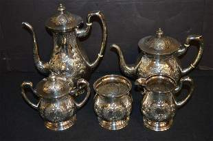 5 pc Sterling Mueck Carey Co Coffee Tea Service