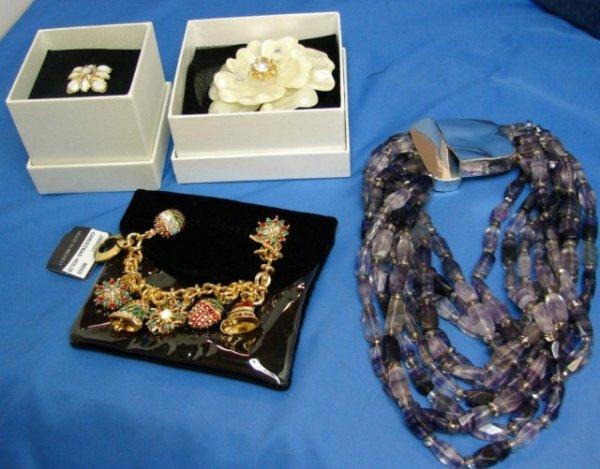 3: Adrienne Vittadini Necklace, St. John's pin & ring