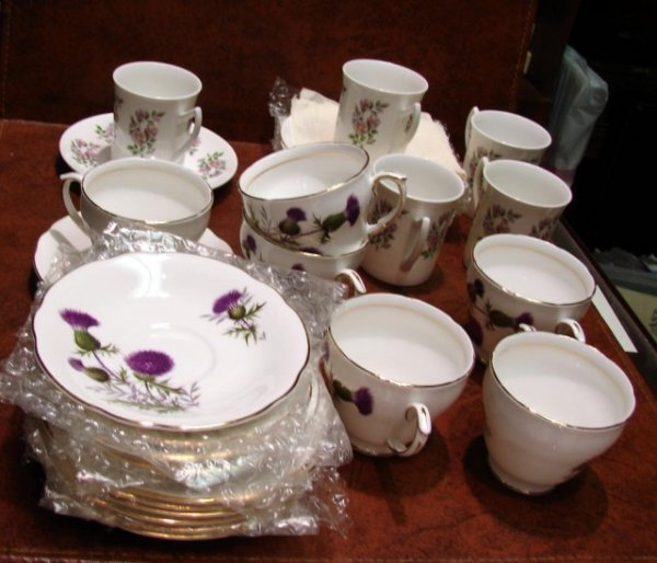 6: 12 English Bone China Cups & Saucers