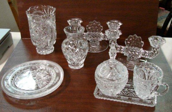 9: Vintage Crystal incl. Star of David Pitcher