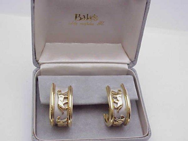 13: 14kyg Cartier like Panther earrings