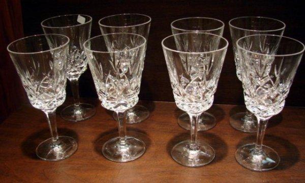 20: 8 Gorham Crystal Water Glasses King Edward