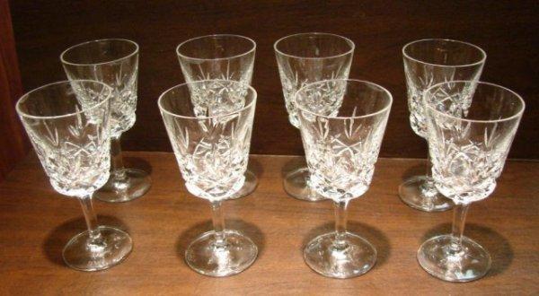 24: 8 Gorham Crystal Water Glasses King Edward