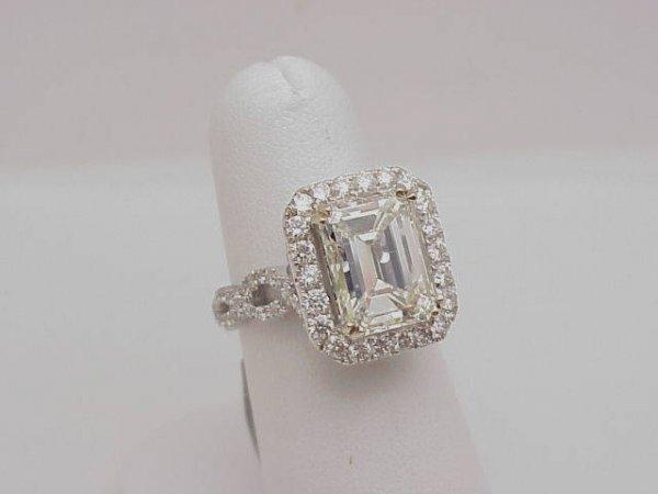 80: Magnificent  5.01ct emerald cut diamond ring EGL