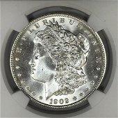 1902 Morgan Silver $1 NGC MS66