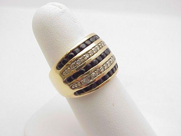 12: Lady's 10kyg sapphire/diamond ring