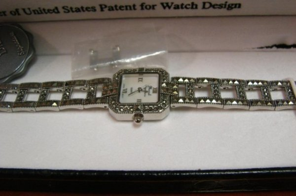 14: Lady's Marcel Dryer Watch with Marcasite Band