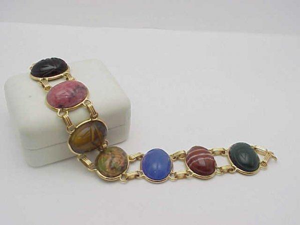 15: Lady's 14kyg scarab bracelet