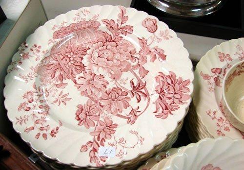 17: 64 pcRoyal Staffordshire dinnerware Clarice Cliff
