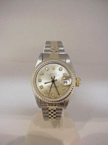 20: Lady's 18k/stainless  Rolex Datejust watch