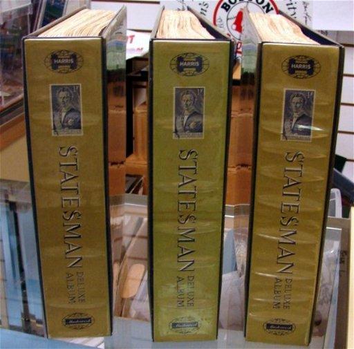 381: 3 Harris Statesman Stamp Albums