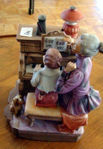 3: Porcelain figurine Piano Teacher & Student