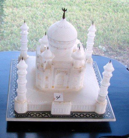 4: Carved & Polished Alabaster Taj Mahal