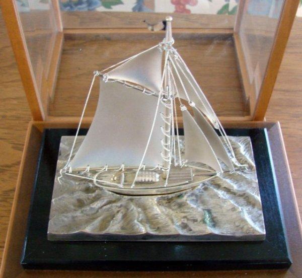 7: Gorham Lucite Encased Sterling Silver Ship