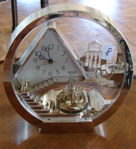 8: Lucite Cased Contemporary Clock