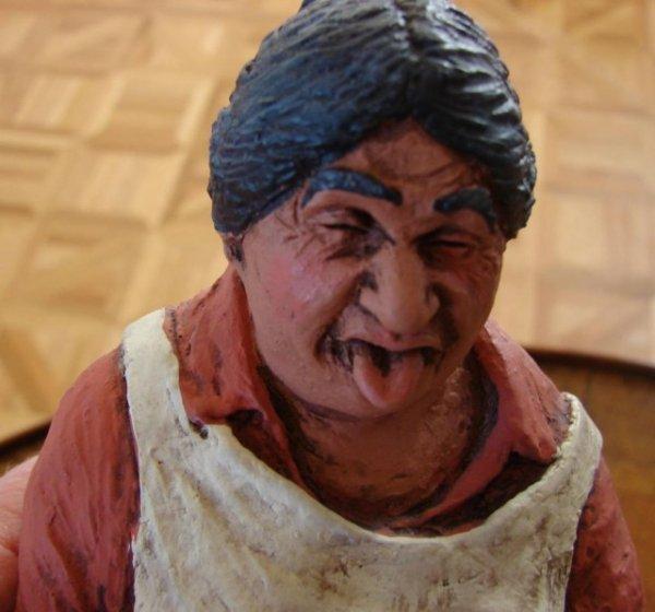 9: Washerwoman Figurine (Not Happy!!)
