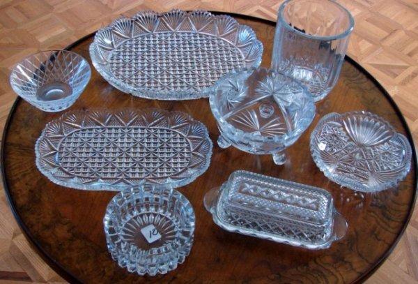 10: 9 pieces Vintage Cut Crystal