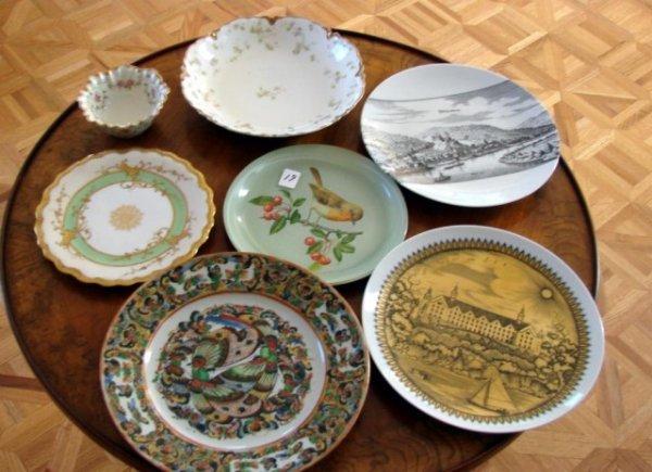 19: 7 Vintage Porcelain Plates Havilland ++