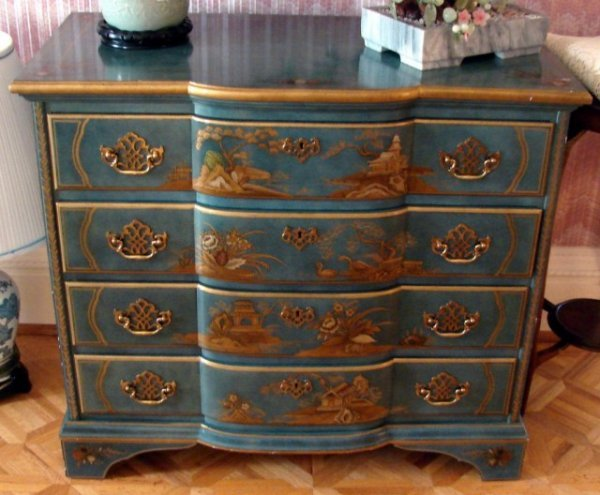 218: George III Chinoiserie Chest by Baker