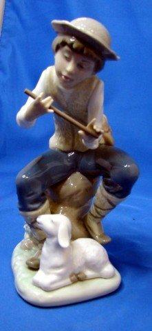 "3: Nao by Lladro Shepherd  Figurine 7"" tall"