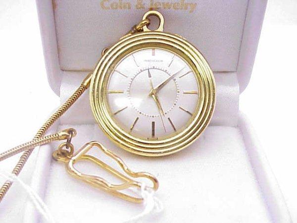 5: Rare LeCoultre open face pocket watch