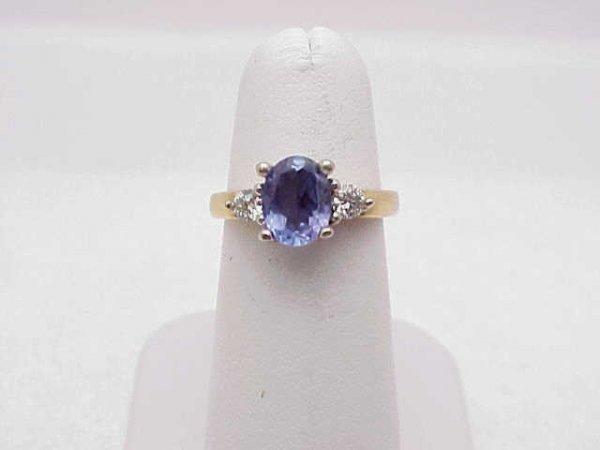6: Lady's 14kyg tanzanite and diamond ring