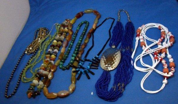15: Collection of Semi-Precious Stone Necklaces