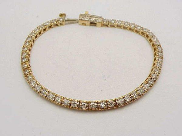 21: 14kyg diamond bracelet 2.0ctw