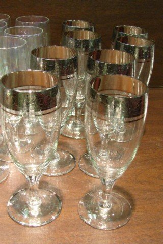 85: Lot of 25 Vintage Glasses - Iridescent Stemware - 2