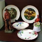 293 Vintage lot Mark Twain plates Blue Ridge Pottery