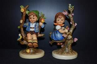Pair of Goebel Hummel, W. German Figurines
