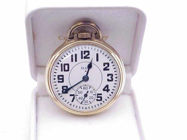 4: Elgin open faced pocket watch 21 jewel