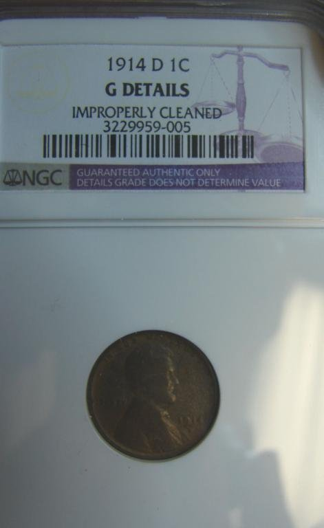 8: 1914-D Lincoln Cent NGC G Details