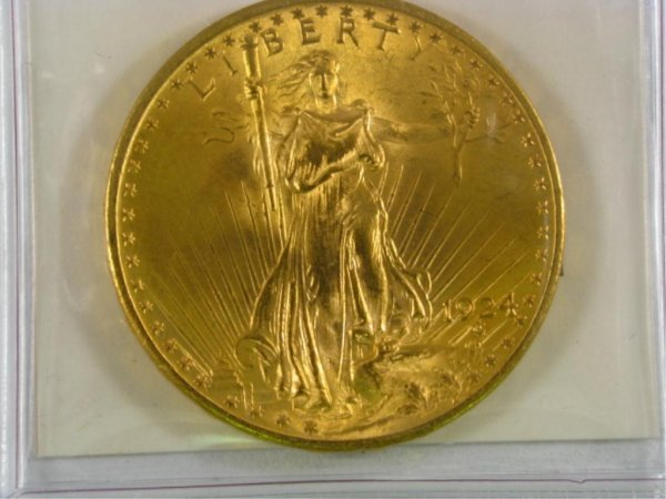 505: 1924 $20 St. Gaudens BU