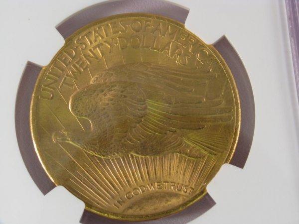 396: 1924 St.Gaudens $20 NGC MS65