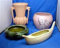 13: 4 Pcs. Vintage McCoy Pottery