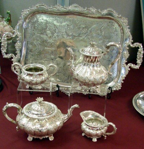 115: Sheffield Silver plate Tea Service C  H  Collins - Dec